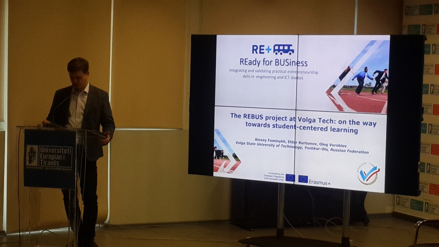 011 Figure 10 REBUS partner presenting at the Tirana Conference